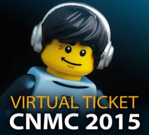 Virtual ticket CNMC 2015 - LEGO figurine with headphones