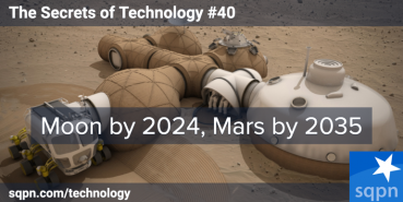 Moon by 2024; Mars by 2035