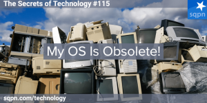 Stack of obsolete junked computers