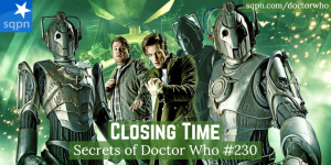 The Doctor and Craig and Cybermen from Closing Time